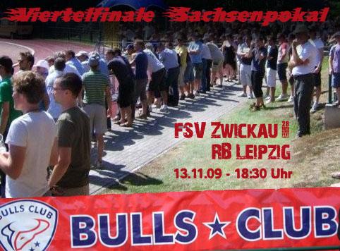 Sachsenpokal gegen Zwickau