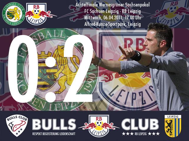 Das Spiel: FC Sachsen Leipzig – RB Leipzig 0:2