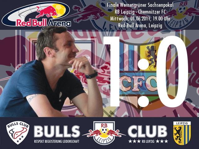 Das Spiel: RB Leipzig – Chemnitzer FC 1:0