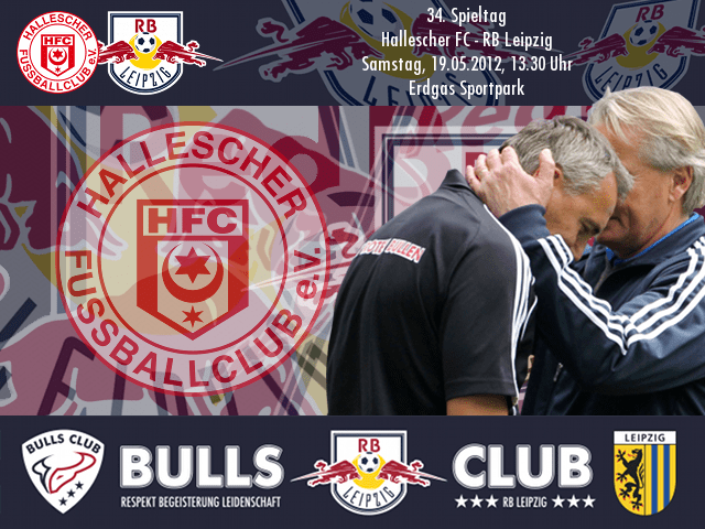 34. Spieltag: Hallescher FC – RB Leipzig