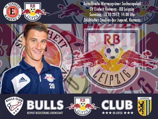 Achtelfinale Wernesgrüner Sachsenpokal: SV Einheit Kamenz – RB Leipzig